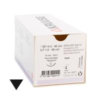 KRUUSE Sacryl suture, USP 4-0, 45 cm, violet, 16 mm needle, 3/8C, taperpoint, 18/pk
