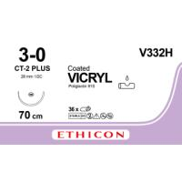 Vicryl suture USP 3/0, w/needle CT-2, 70 cm, 36/pk
