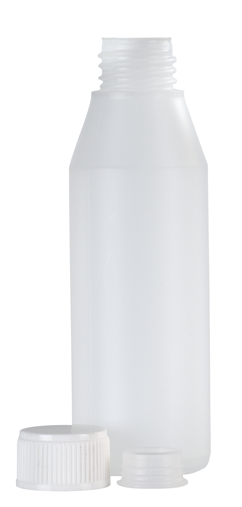 Plastic bottle with cap and insert, 100 ml.