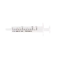 KRUUSE disposable syringe center nozzle 2-comp. 2->2,4 ml 100/pk