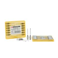 KRUUSE-Vet needles 2,0x30 mm, luer lock, 12/pk
