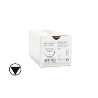 KRUUSE Sacryl suture, USP 2/EP 5, 90 cm. Needle:  65 mm, ½ C, RB, tapercut, 18/pk