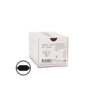 KRUUSE Sacryl suture, USP 5-0, 70 cm violet, 17 mm needle, ½C, round bodied taperpoint extra, 18/pk