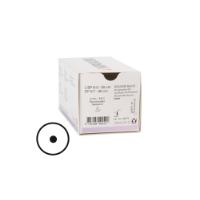 KRUUSE Sacryl suture, USP 6-0, 30 cm, violet, 9 mm needle, 3/8C, round bodied taperpoint, 18/pk