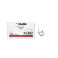 KRUUSE suture needle regular eye, ½ circle, round body, taper cut, 23 mm, 10/pk