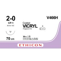 Vicryl suture 2/0 with needle CP-1, 70 cm, 36/pk