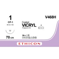 Vicryl suture 1, w/needle CP-1, 70 cm, 36/pk