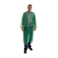 KRUTEX green disposable gown, 20/pk