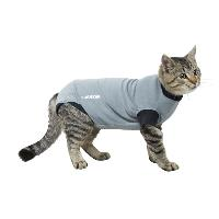 BUSTER Body Suit for cats, grey/black, 38.5 cm, size XS