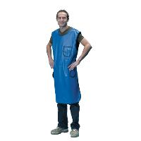 X-Ray protective apron 110 cm 0.35 mm, royal blue, small