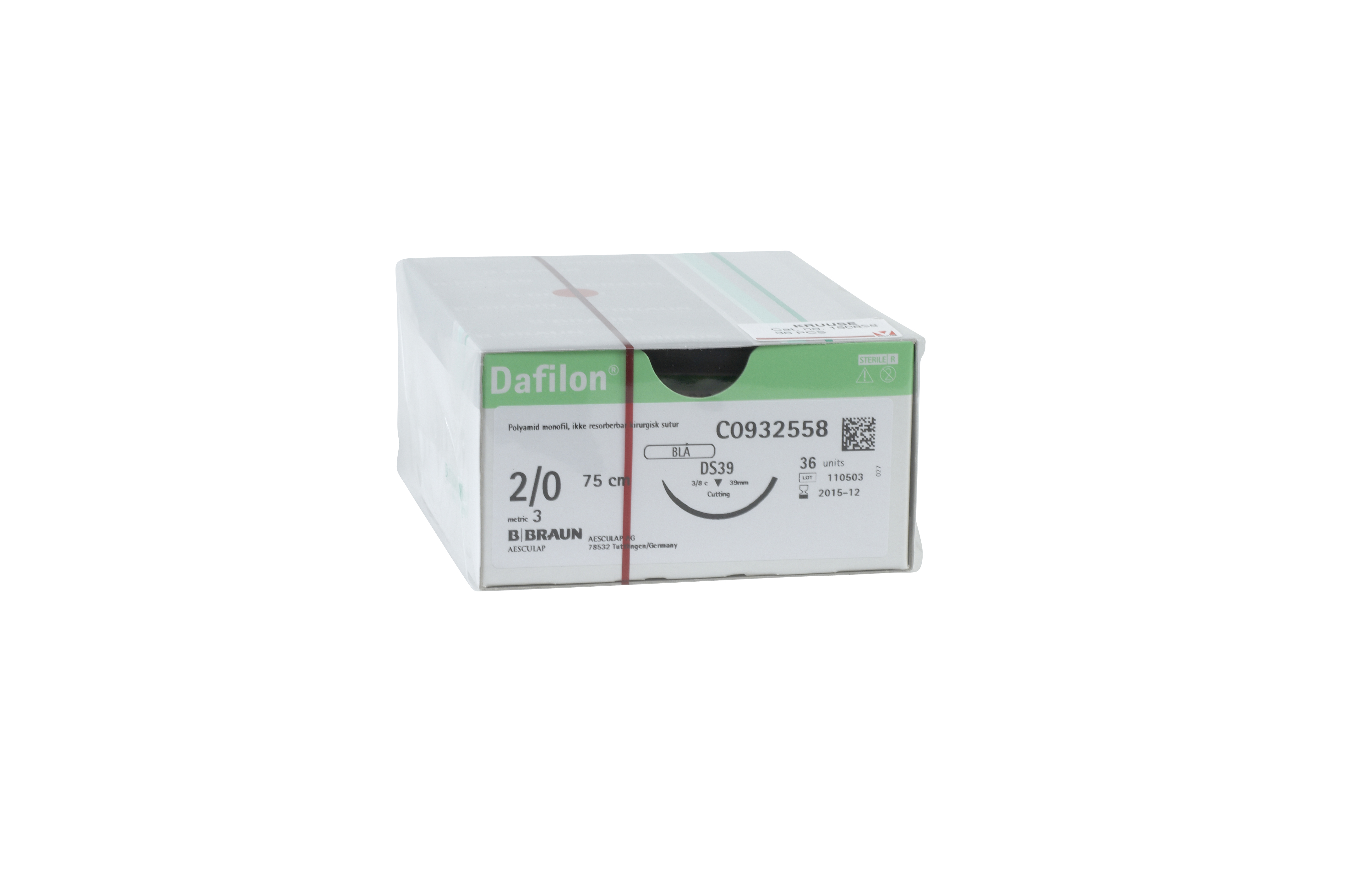 Dafilon USP 2/0, DS-30 C0935476, only sold as 36/pk