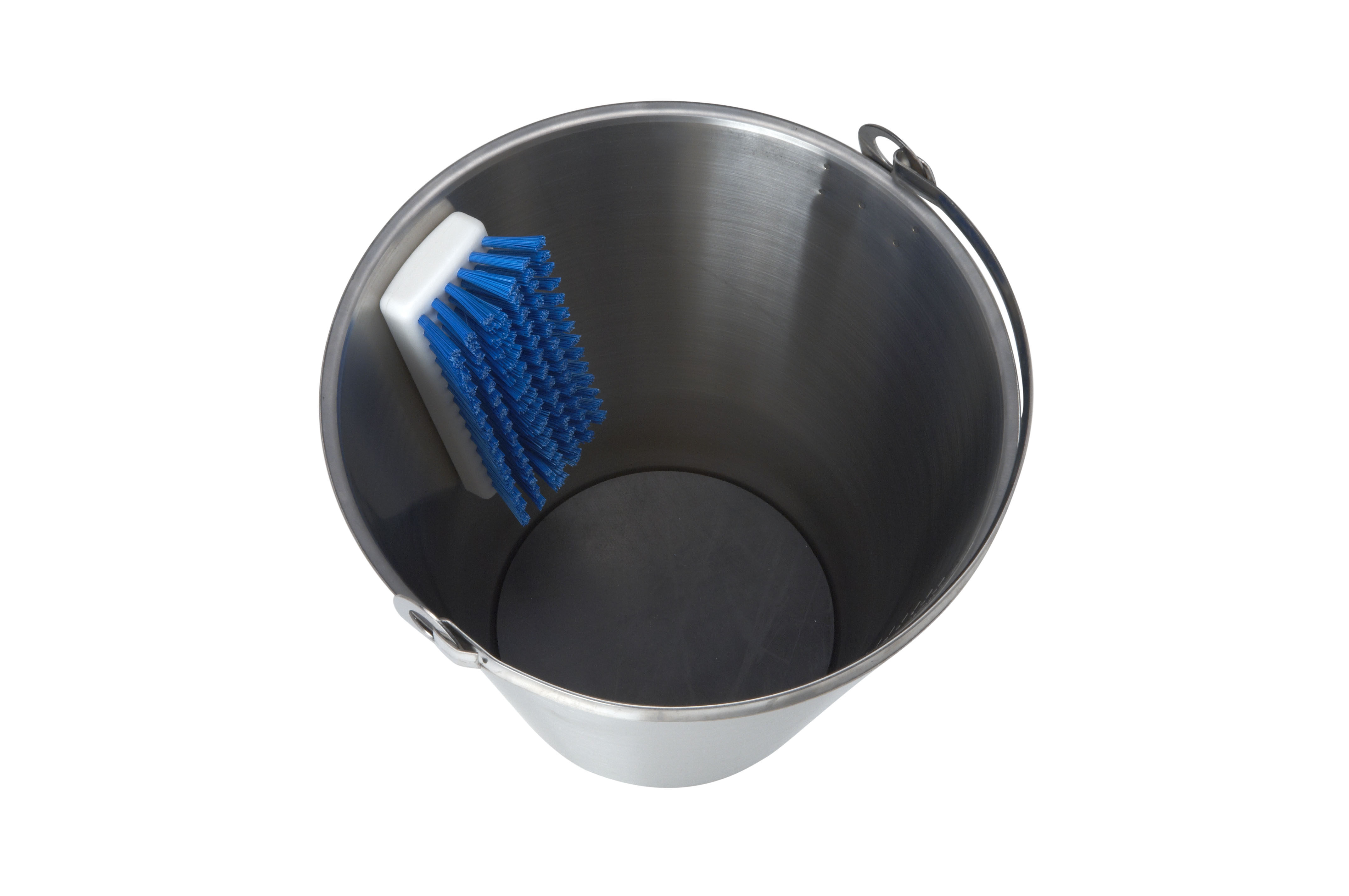 EQUIVET stainless steel bucket with brush