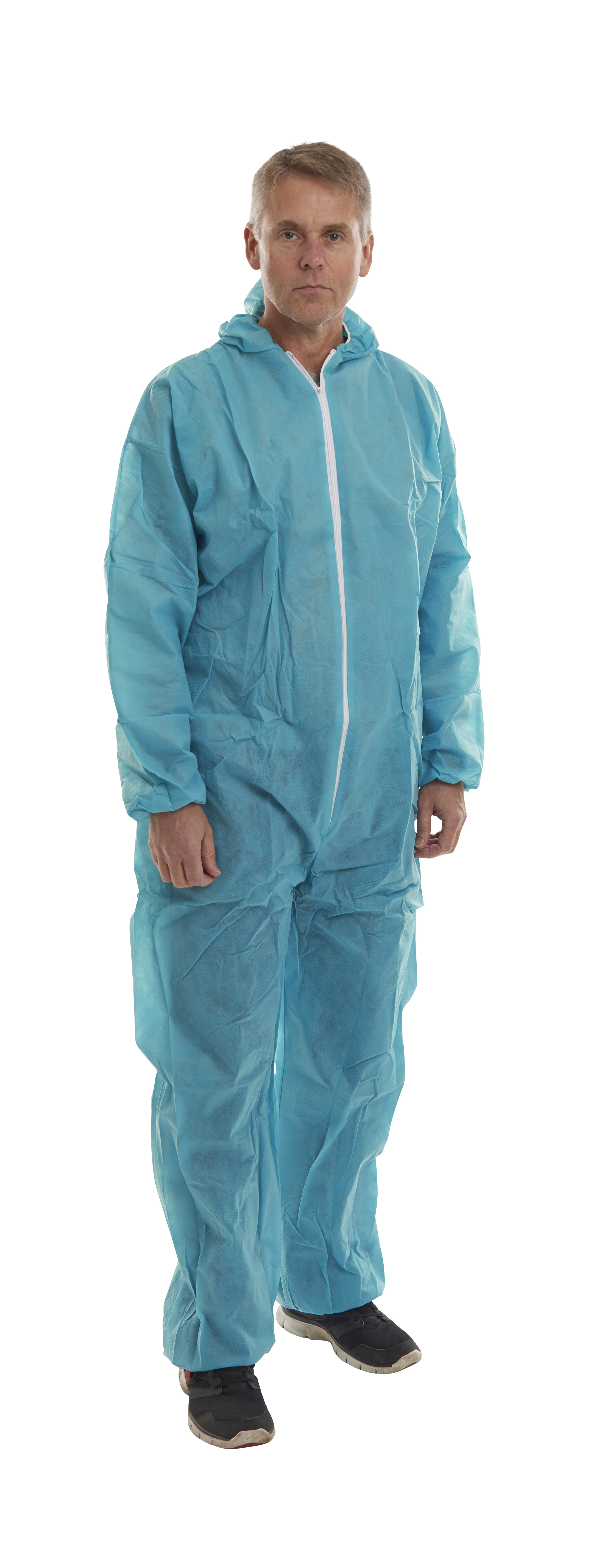 KRUTEX disposable suit, blue, L