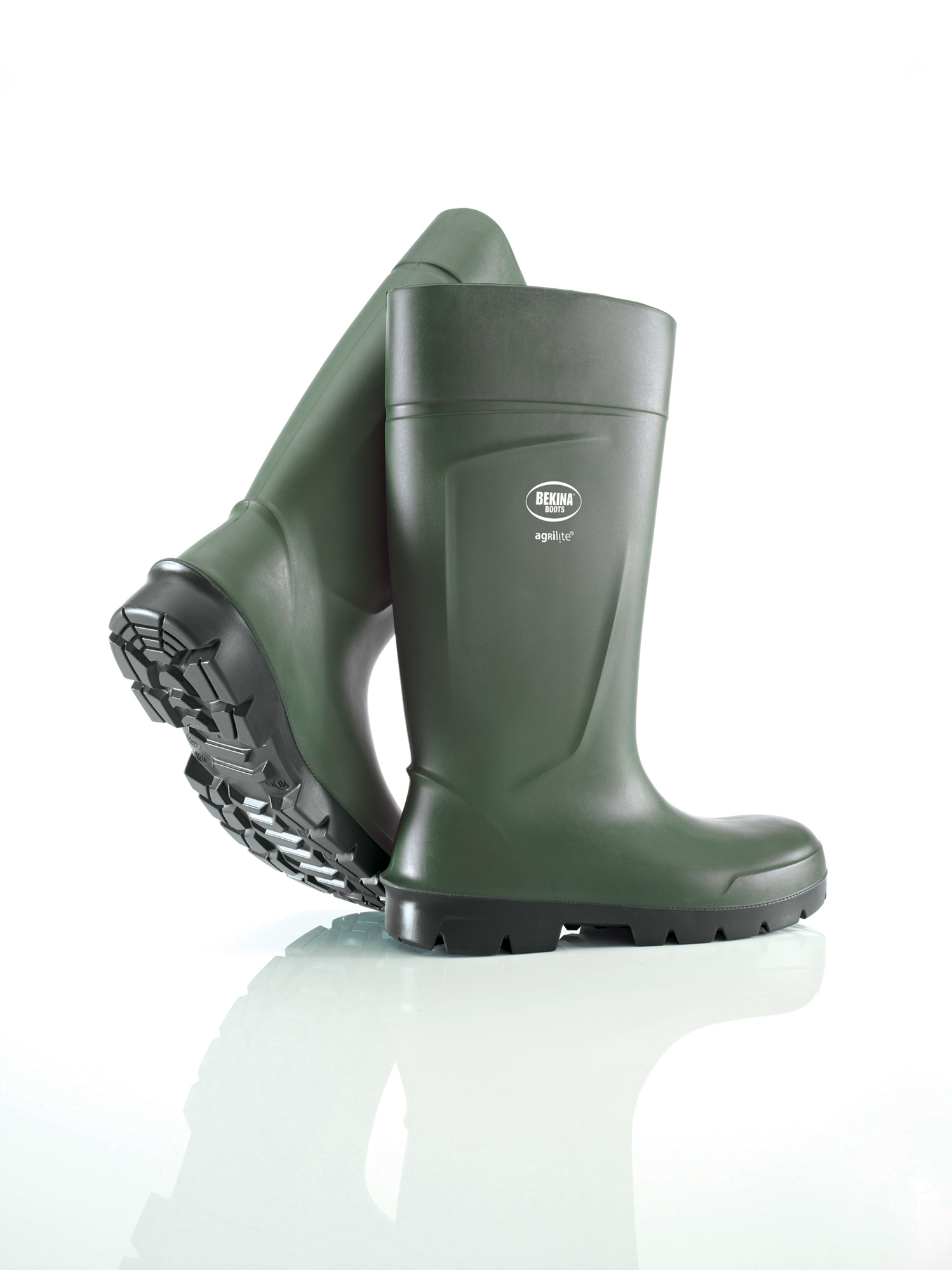 Bekina Agrilite rubber boot (PU) with steel toe cap, olive green, size 44