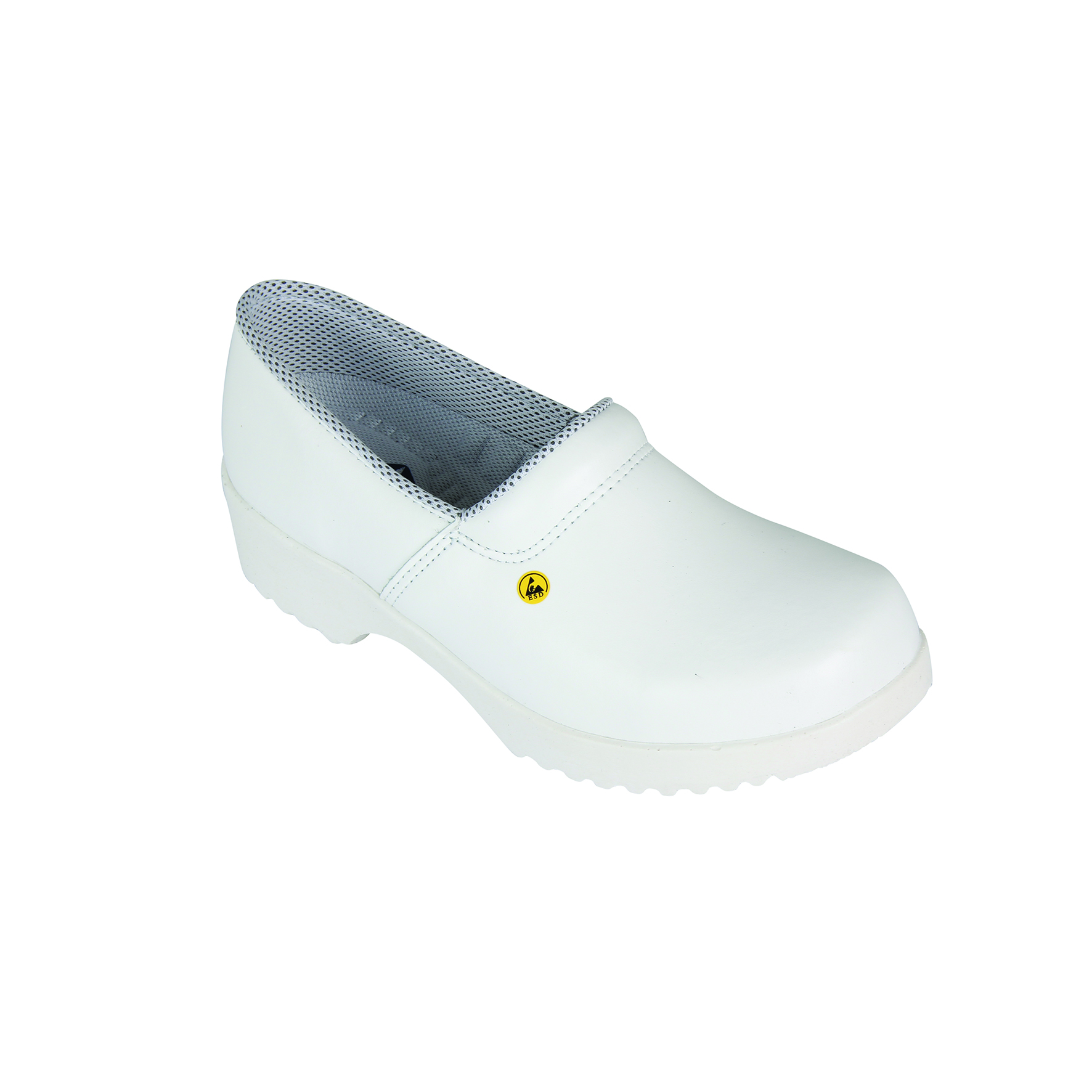 Flex clogs with counter white, size 40