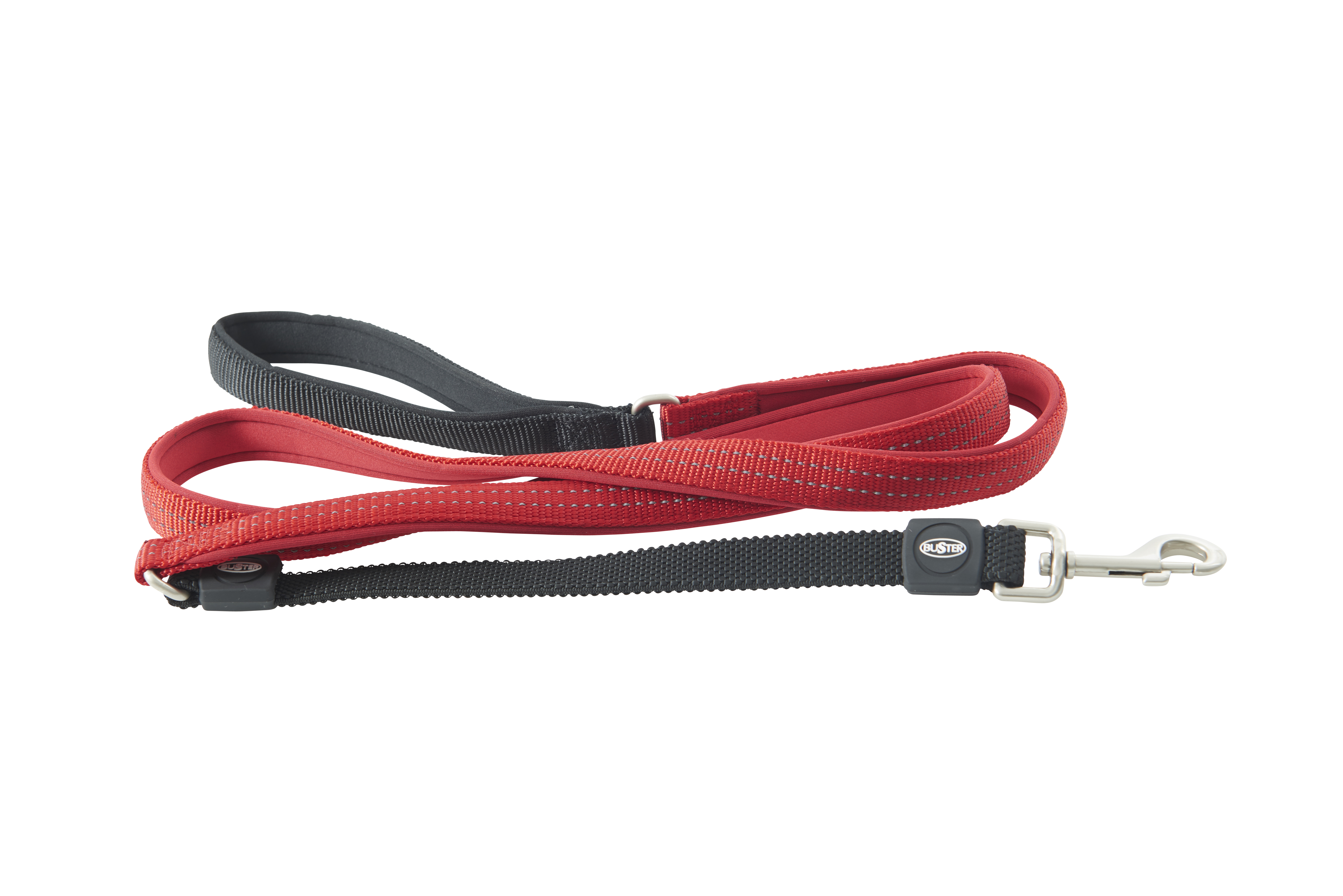 BUSTER Neoprene 180 cm Bungee Lead, Red/Red, S/M, 20mm
