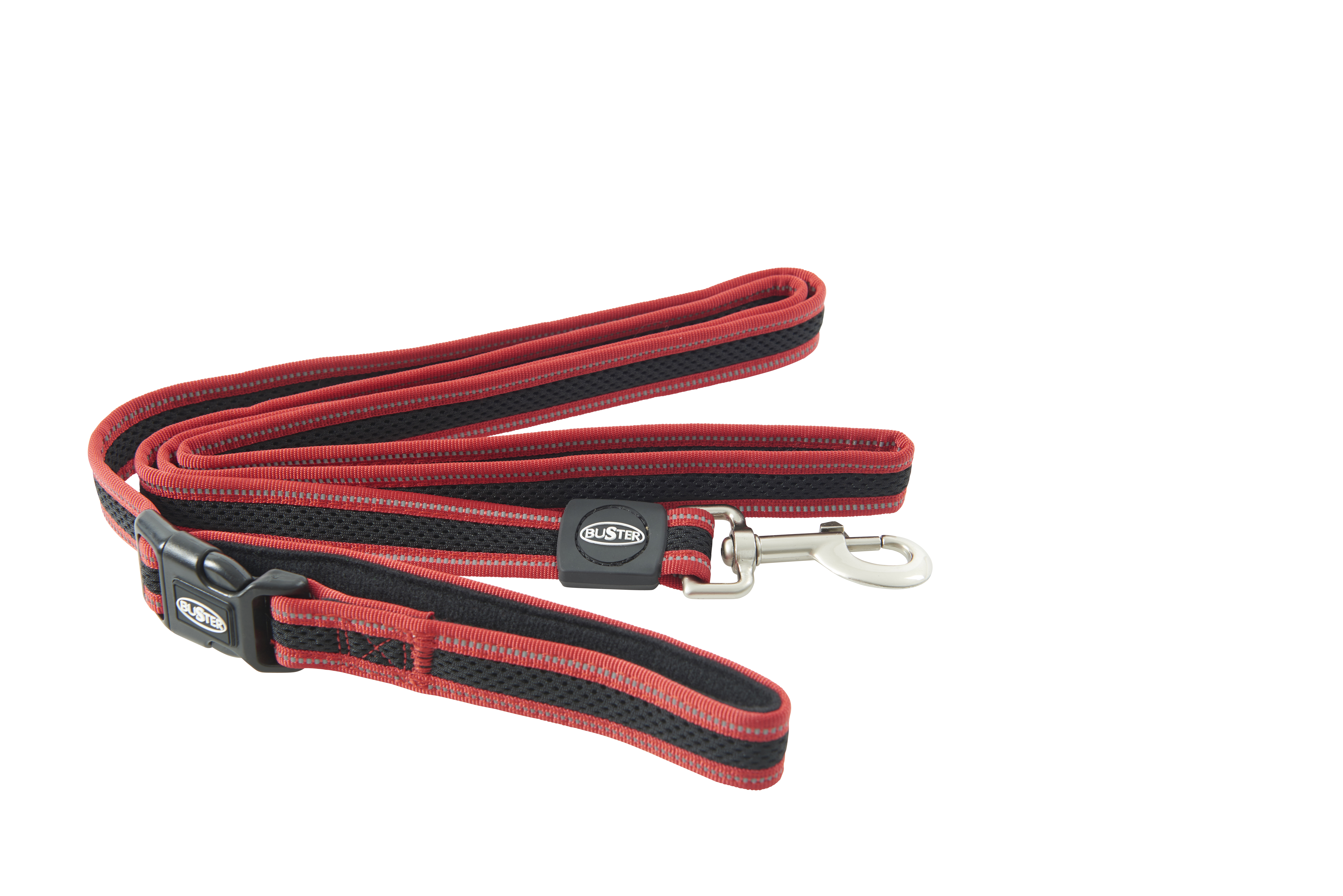 BUSTER Reflective Mesh 180 cm Lead, Red/Red, L/XL, 25mm