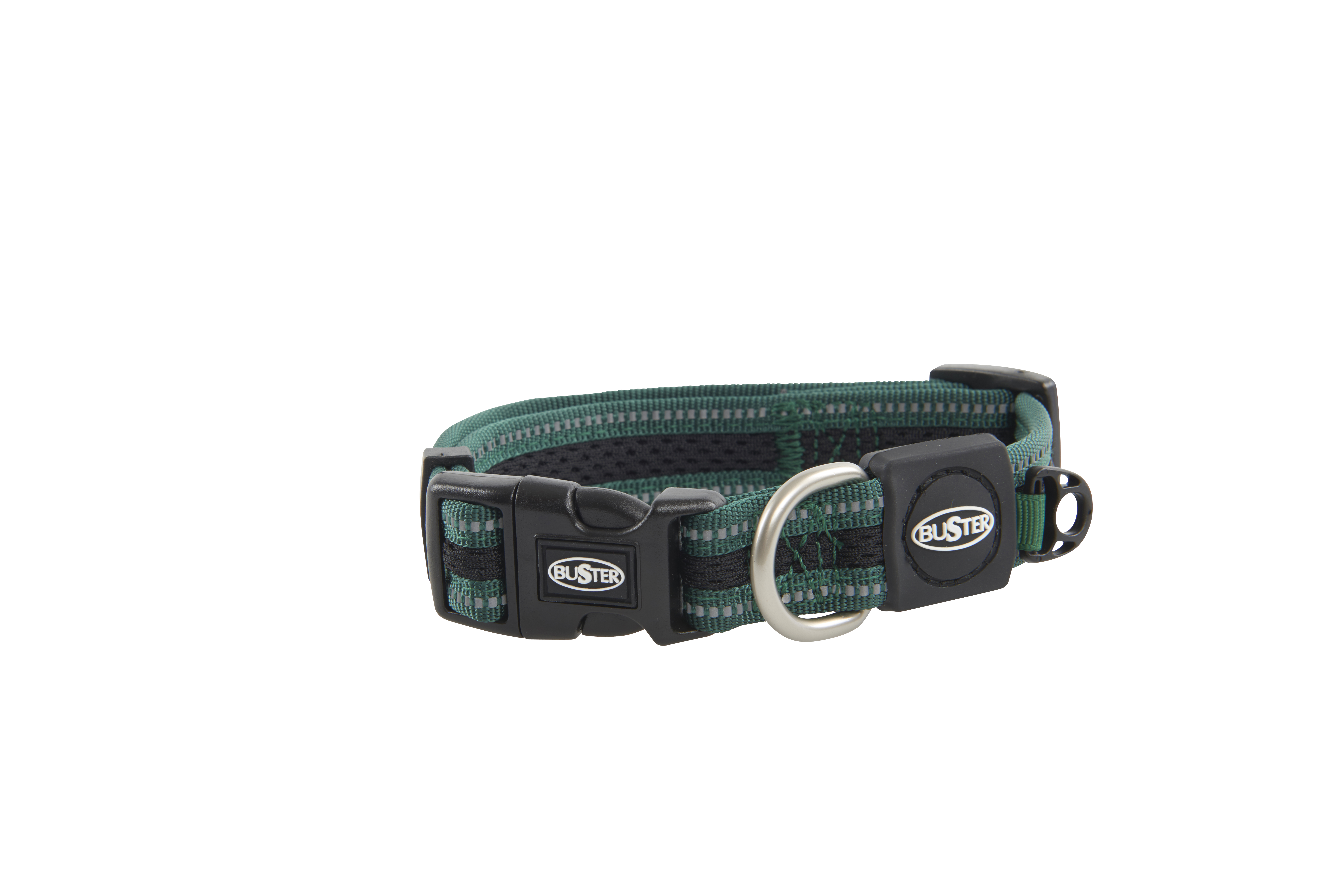 BUSTER Reflective Mesh Collar, Green/Green, S, 20mm (27-40cm)