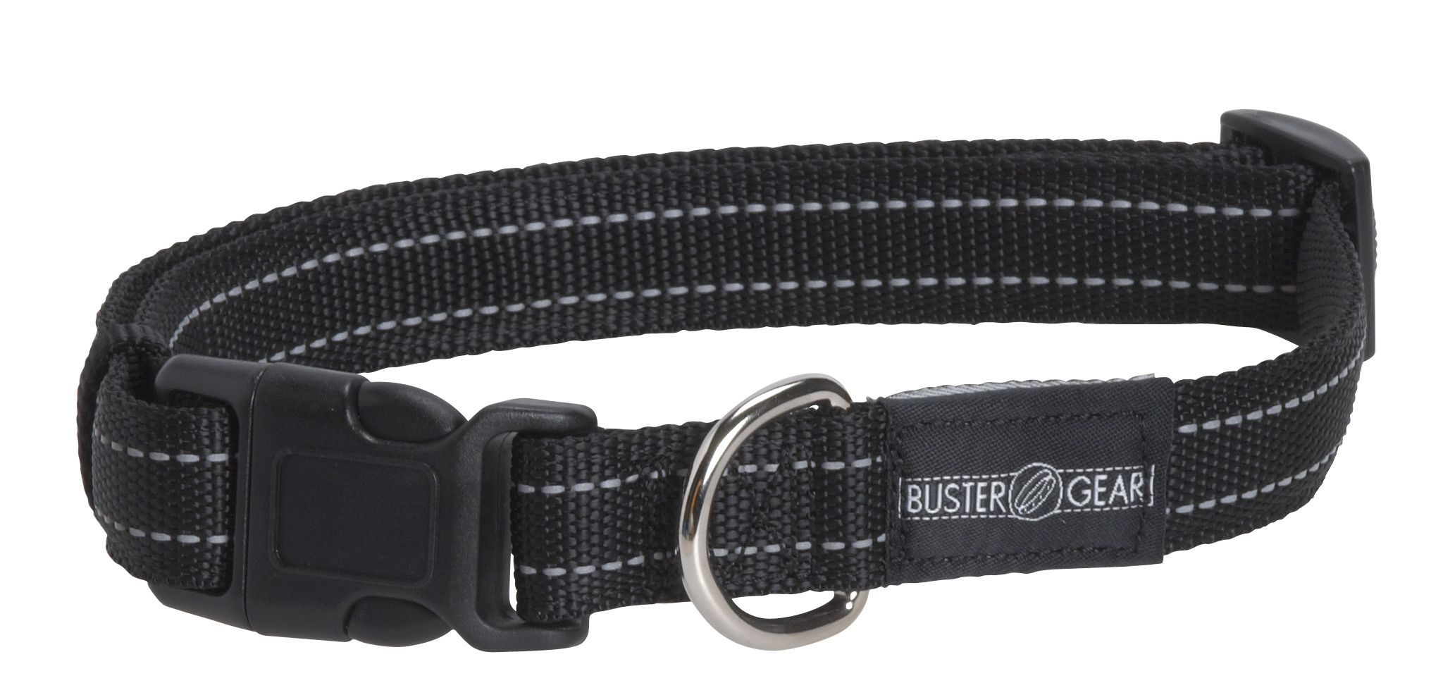 BUSTER reflective collar, adjustable, 10x280-400 mm, black